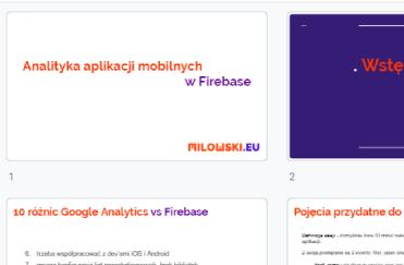 Kurs Firebase - szkolenie z analityki aplikacji mobilnych dla marketerów