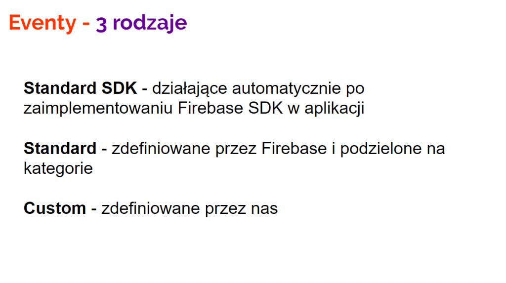 Slajd ze Firebase Kurs